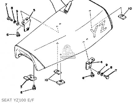 Yamaha YZ100 1979 USA parts lists and schematics