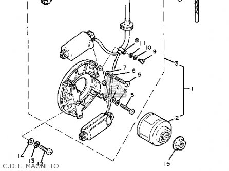 Yamaha YZ100 1982 (C) USA parts lists and schematics