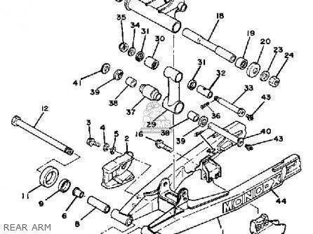 Yamaha Yz100 1982 (c) Usa parts list partsmanual partsfiche