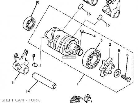 Yamaha Yz100j 1982 parts list partsmanual partsfiche