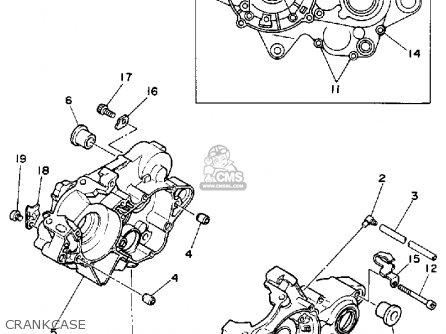 Yamaha Yz125-1 1992 (n) Usa parts list partsmanual partsfiche