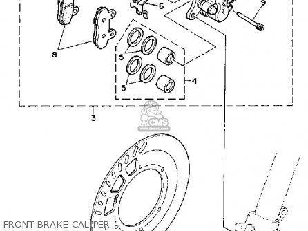 Yamaha YZ125-1 1992 (N) USA parts lists and schematics