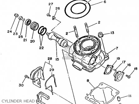 Yamaha Yz125-1 1993 (p) Usa parts list partsmanual partsfiche
