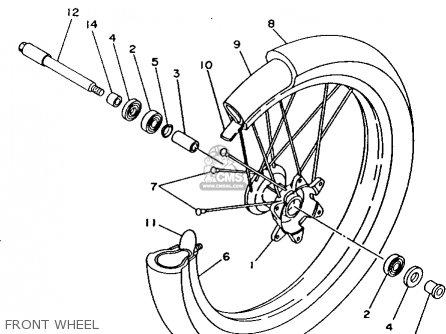 Yamaha Yz125-1 1993 (p) Usa parts list partsmanual partsfiche