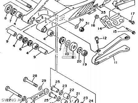 Yamaha YZ125-1 1993 (P) USA parts lists and schematics