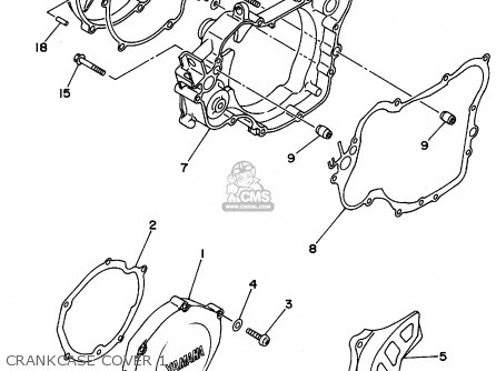 Yamaha Yz125-1 1994 (r) Usa parts list partsmanual partsfiche