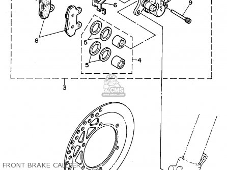 Yamaha YZ125-1 1994 (R) USA parts lists and schematics