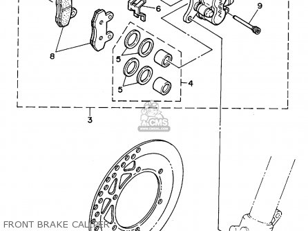Yamaha Yz125-1 1995 (s) Usa parts list partsmanual partsfiche