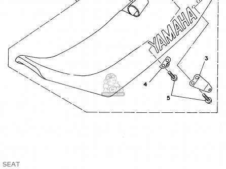 Yamaha YZ125-1 1995 (S) USA parts lists and schematics