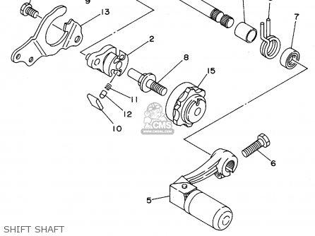 Yamaha Yz125-1 1995 (s) Usa parts list partsmanual partsfiche