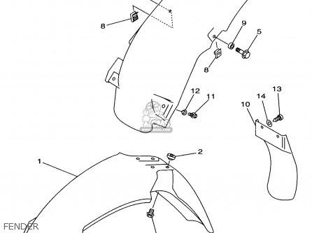 Yamaha Yz125-1 1997 (v) Usa parts list partsmanual partsfiche