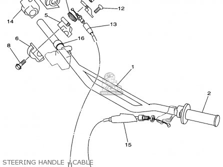 Yamaha YZ125-1 1997 (V) USA parts lists and schematics