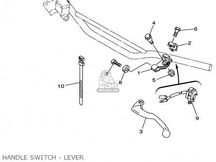 Yamaha Yz125-1 1998 (w) Usa parts list partsmanual partsfiche