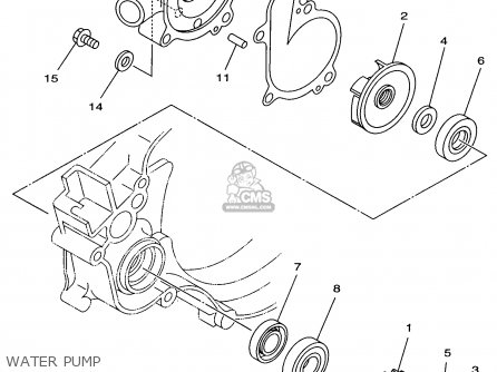 Yamaha Yz125-1 1998 (w) Usa parts list partsmanual partsfiche