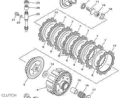 Yamaha Yz125-1 2000 (y) Usa parts list partsmanual partsfiche