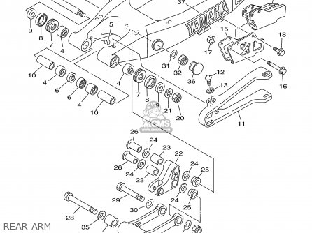 Yamaha YZ125-1 2000 (Y) USA parts lists and schematics