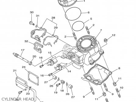 Yamaha Yz125-1 2001 (1) Usa parts list partsmanual partsfiche