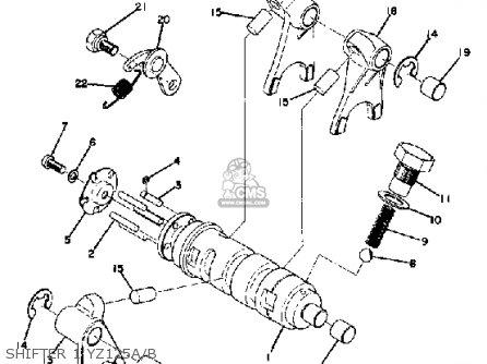 Yamaha YZ125 1974 USA parts lists and schematics