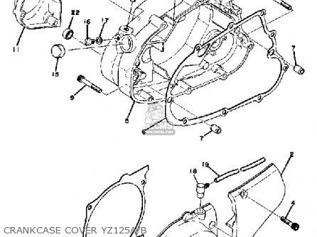 Yamaha Yz125 1975 Usa parts list partsmanual partsfiche