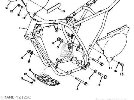 Yamaha YZ125 1976 USA parts lists and schematics