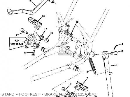 Yamaha Yz125 1976 Usa parts list partsmanual partsfiche