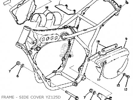 Yamaha YZ125 1977 USA parts lists and schematics