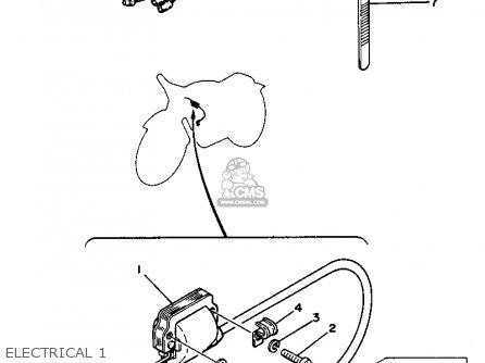 Yamaha Yz125 1981 (b) Usa parts list partsmanual partsfiche