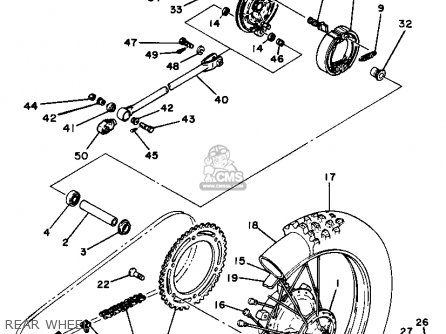 Yamaha YZ125 1981 (B) USA parts lists and schematics