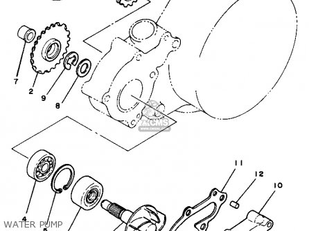Yamaha Yz125 1981 (b) Usa parts list partsmanual partsfiche