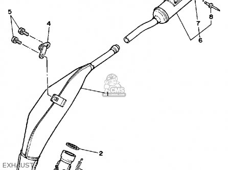 Yamaha YZ125 1985 (F) USA parts lists and schematics