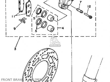Yamaha Yz125 1985 (f) Usa parts list partsmanual partsfiche