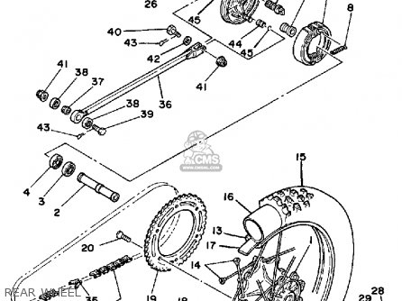 Yamaha YZ125 1985 (F) USA parts lists and schematics