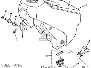 Yamaha YZ125 1989 3JD1 EUROPE 293JD-300E1 parts lists and