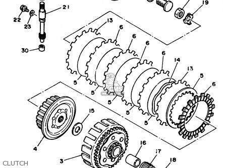 Yamaha Yz125 1989 (k) Usa parts list partsmanual partsfiche
