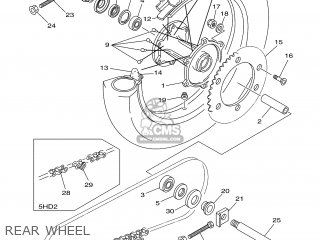 Yamaha YZ125 2000 5HD1 USA 105HD-100E1 parts lists and