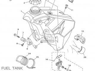 Yamaha YZ125 2001 5MV2 ENGLAND 115MV-100E2 parts lists and