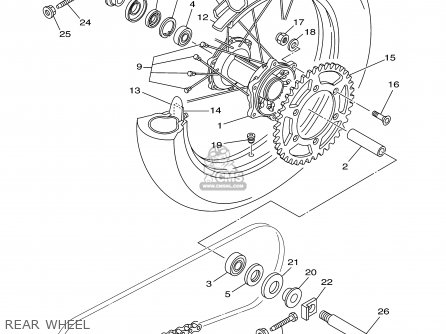 Yamaha Yz125 2003 (3) Usa parts list partsmanual partsfiche