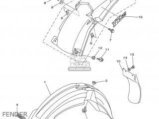 Yamaha YZ125 2003 5UN2 ENGLAND 1B5UN-100E1 parts lists and