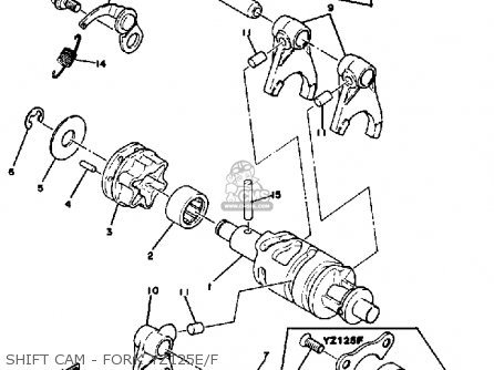 Yamaha YZ125 COMPETITION 1978 USA parts lists and schematics