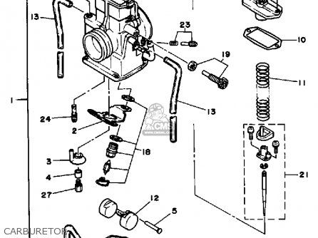 Yamaha Yz125 Competition 1986 (g) Usa parts list