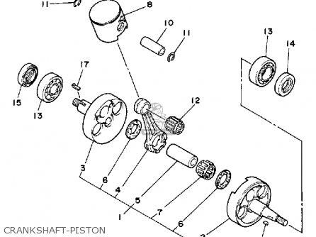Yamaha Yz125 Competition 1988 (j) Usa parts list