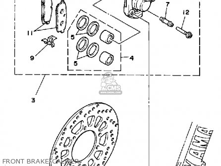 Yamaha YZ125 COMPETITION 1988 (J) USA parts lists and