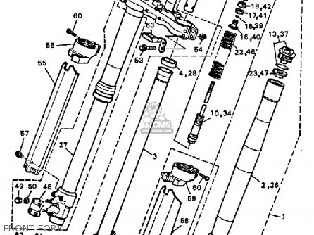 Yamaha Yz125 Competition 1991 (m) Usa parts list