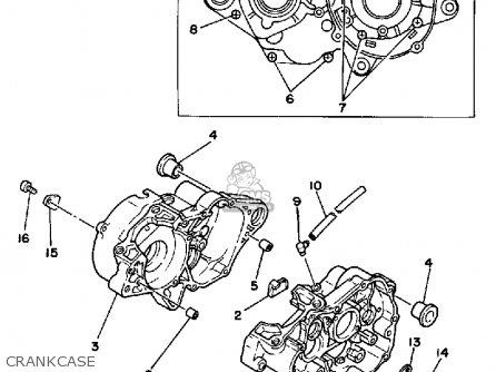 Yamaha Yz125 N 1985 parts list partsmanual partsfiche