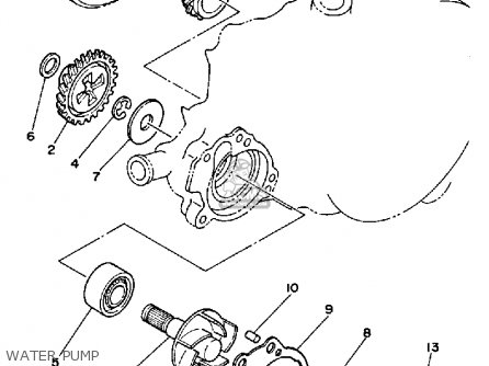 Yamaha Yz125 N 1985 parts list partsmanual partsfiche