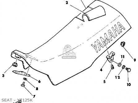 Yamaha YZ125 OFFROAD 1984 (E) USA parts lists and schematics
