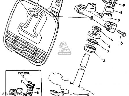 Yamaha YZ125 OFFROAD 1984 (E) USA parts lists and schematics