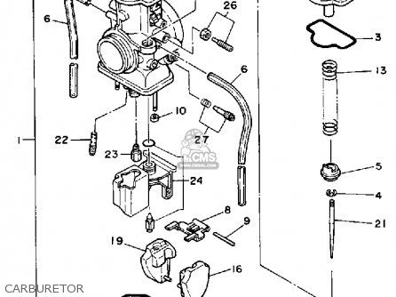Yamaha Yz125a Competition 1990 parts list partsmanual