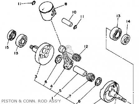 Yamaha Yz125b Competition 1991 parts list partsmanual