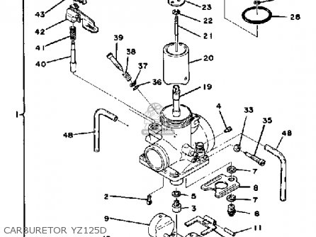 Yamaha Yz125d 1974-1977 parts list partsmanual partsfiche